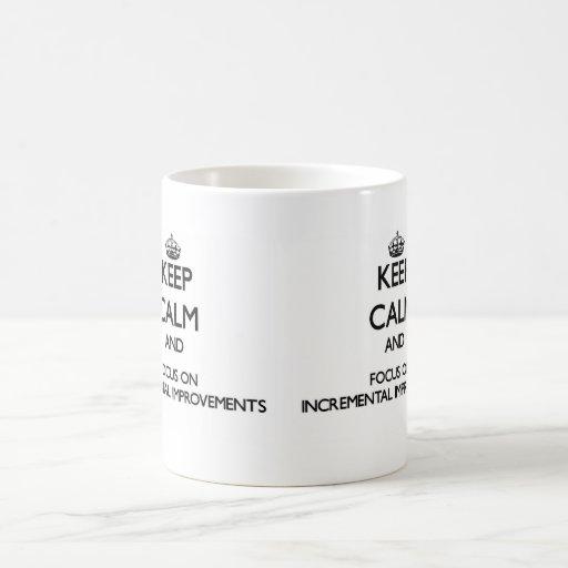 Keep Calm and focus on Incremental Improvements Mug