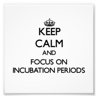Keep Calm and focus on Incubation Periods Photo