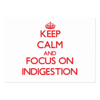 Keep Calm and focus on Indigestion Business Card Templates