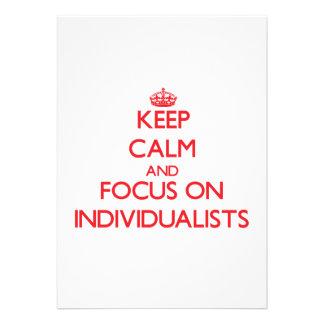 Keep Calm and focus on Individualists Custom Invite