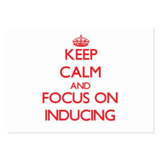 Keep Calm and focus on Inducing Large Business Cards (Pack Of 100)