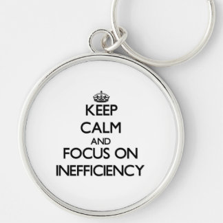 Keep Calm and focus on Inefficiency Keychains