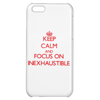Keep Calm and focus on Inexhaustible Cover For iPhone 5C