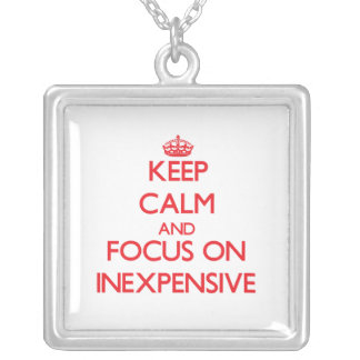 Keep Calm and focus on Inexpensive Personalized Necklace