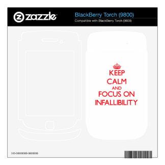 Keep Calm and focus on Infallibility BlackBerry Skin