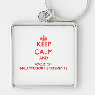 Keep Calm and focus on Inflammatory Statements Keychains