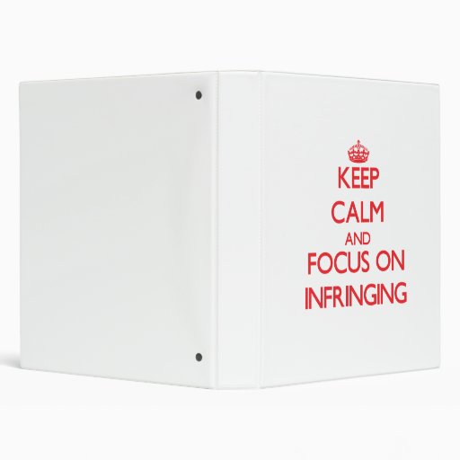 Keep Calm and focus on Infringing Binder