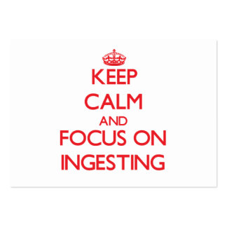 Keep Calm and focus on Ingesting Business Cards