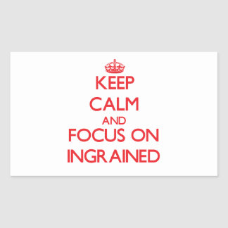 Keep Calm and focus on Ingrained Rectangle Stickers