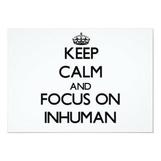 "Keep Calm and focus on Inhuman 5"" X 7"" Invitation Card"