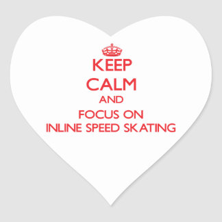 Keep calm and focus on Inline Speed Skating Sticker
