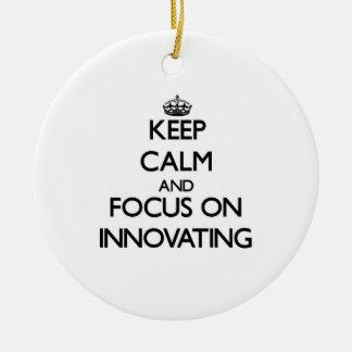 Keep Calm and focus on Innovating Christmas Tree Ornament