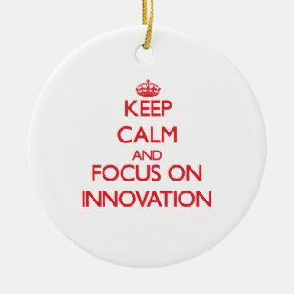 Keep Calm and focus on Innovation Christmas Tree Ornaments