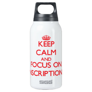 Keep Calm and focus on Inscriptions 10 Oz Insulated SIGG Thermos Water Bottle