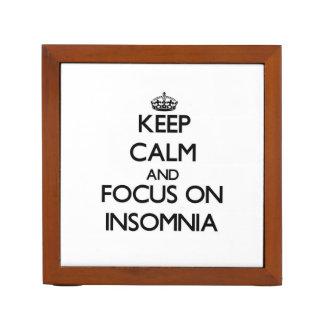 Keep Calm and focus on Insomnia Desk Organizer