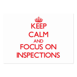 Keep Calm and focus on Inspections Large Business Cards (Pack Of 100)