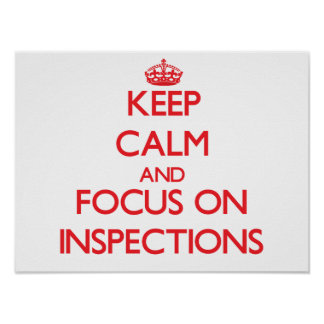 Keep Calm and focus on Inspections Posters