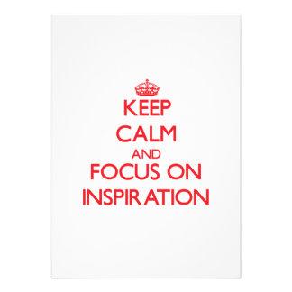 Keep Calm and focus on Inspiration Custom Invitations
