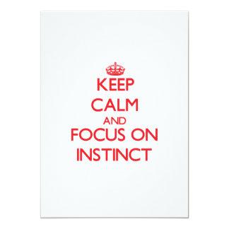 Keep Calm and focus on Instinct 5x7 Paper Invitation Card
