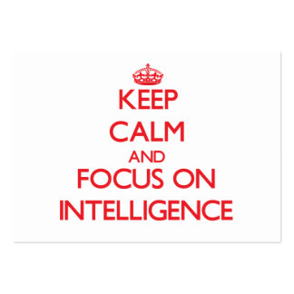 Keep Calm and focus on Intelligence Large Business Cards (Pack Of 100)