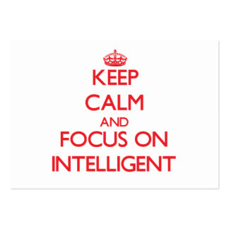 Keep Calm and focus on Intelligent Large Business Cards (Pack Of 100)