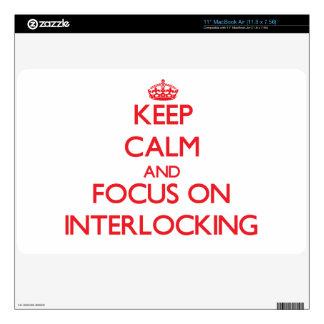 Keep Calm and focus on Interlocking MacBook Decal