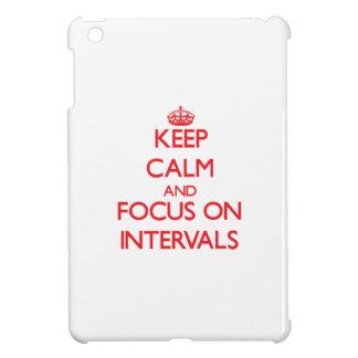 Keep Calm and focus on Intervals iPad Mini Cover