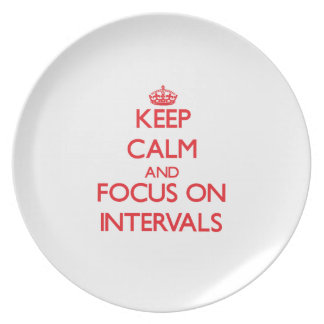 Keep Calm and focus on Intervals Plates