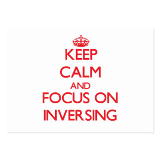 Keep Calm and focus on Inversing Business Card Template