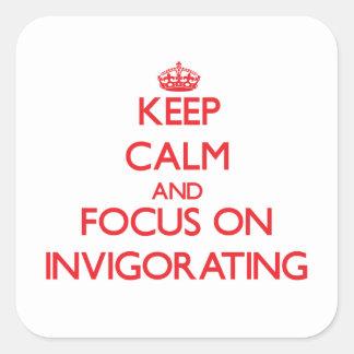 Keep Calm and focus on Invigorating Sticker