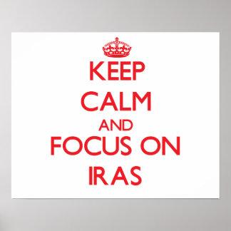 Keep Calm and focus on Iras Print