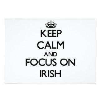 Keep Calm and focus on Irish 5x7 Paper Invitation Card
