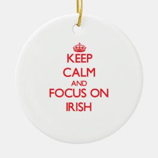 Keep Calm and focus on Irish Christmas Tree Ornament