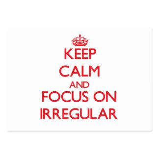 Keep Calm and focus on Irregular Business Card Templates