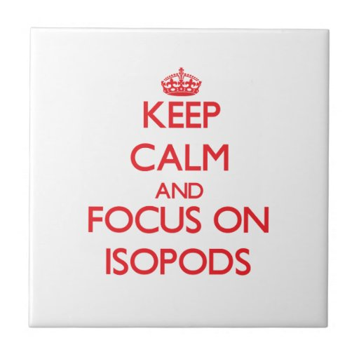Keep calm and focus on Isopods Tile