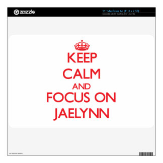 Keep Calm and focus on Jaelynn Decal For The MacBook