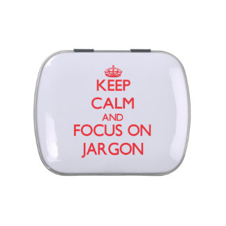 Keep Calm and focus on Jargon Jelly Belly Candy Tins