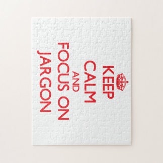 Keep Calm and focus on Jargon Puzzle
