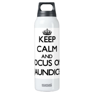 Keep Calm and focus on Jaundice 16 Oz Insulated SIGG Thermos Water Bottle