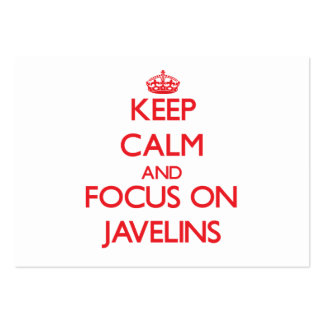 Keep Calm and focus on Javelins Business Card