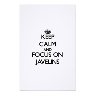 Keep Calm and focus on Javelins Personalized Stationery
