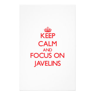 Keep Calm and focus on Javelins Stationery