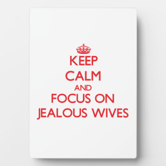 Keep Calm and focus on Jealous Wives Photo Plaque