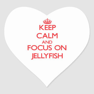 Keep calm and focus on Jellyfish Heart Sticker