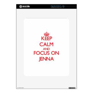 Keep Calm and focus on Jenna Decal For iPad