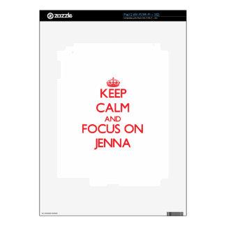 Keep Calm and focus on Jenna iPad 2 Decals