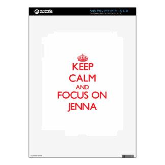 Keep Calm and focus on Jenna iPad 3 Skins