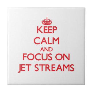 Keep Calm and focus on Jet Streams Ceramic Tile