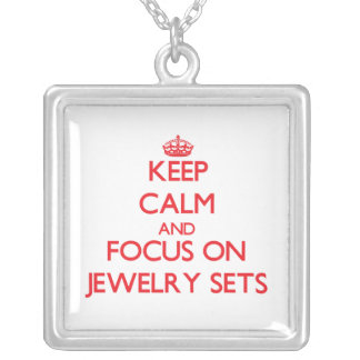 Keep Calm and focus on Jewelry Sets Personalized Necklace