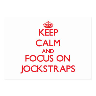 Keep Calm and focus on Jockstraps Business Cards